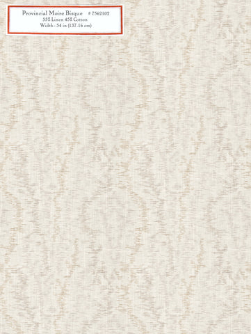 Home Decorative Fabric - Provincial Moire Bisque