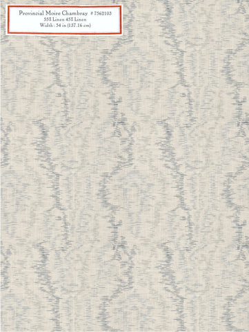 Home Decorative Fabric - Provincial Moire Chambray