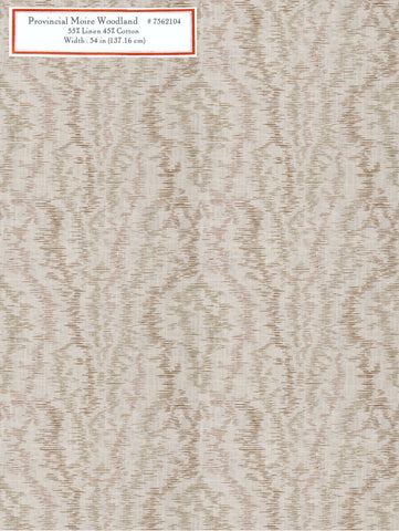Home Decorative Fabric - Provincial Moire Woodland