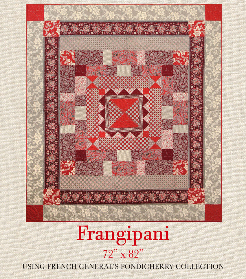 Pondicherry - Frangipani Quilt Pattern