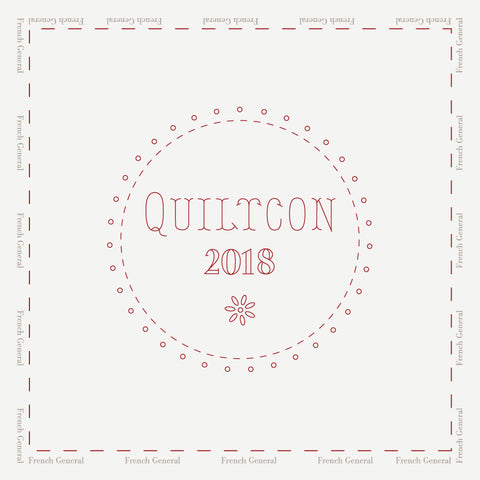 QuiltCon Souvenir Embroidery Sampler - Saturday, February 24th 1 pm