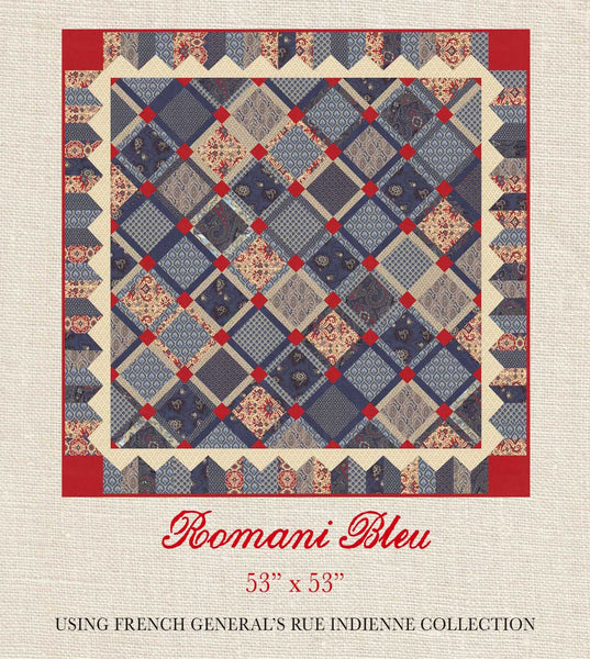 Rue Indienne Romani Bleu Quilt Pattern French General