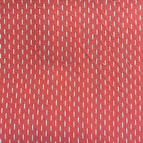 French Sashiko Faded Red with Pearl