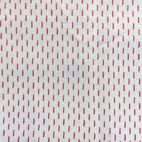 French Sashiko Pearl with Red