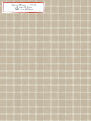Home Decorative Fabric - Septfond Bisque