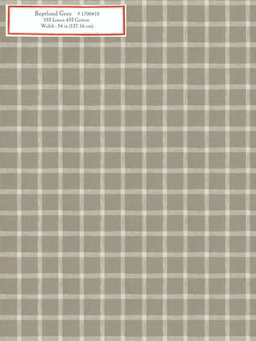 Home Decorative Fabric - Septfond Grey