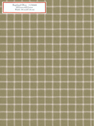 Home Decorative Fabric - Septfond Olive