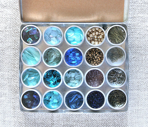 Blue Sequin Jewelry Kit