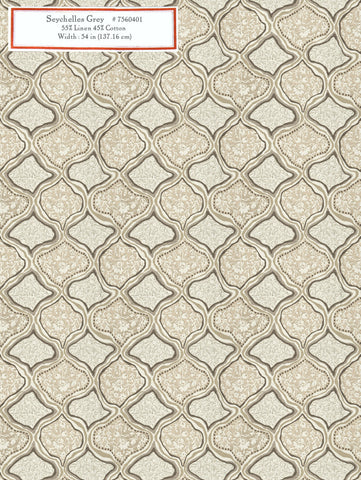 Home Decorative Fabric - Seychelles Grey