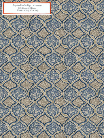 Home Decorative Fabric - Seychelles Indigo