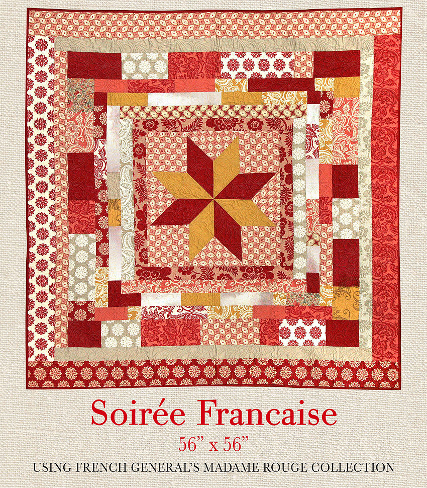 Madame Rouge - Soiree Francaise Quilt Pattern