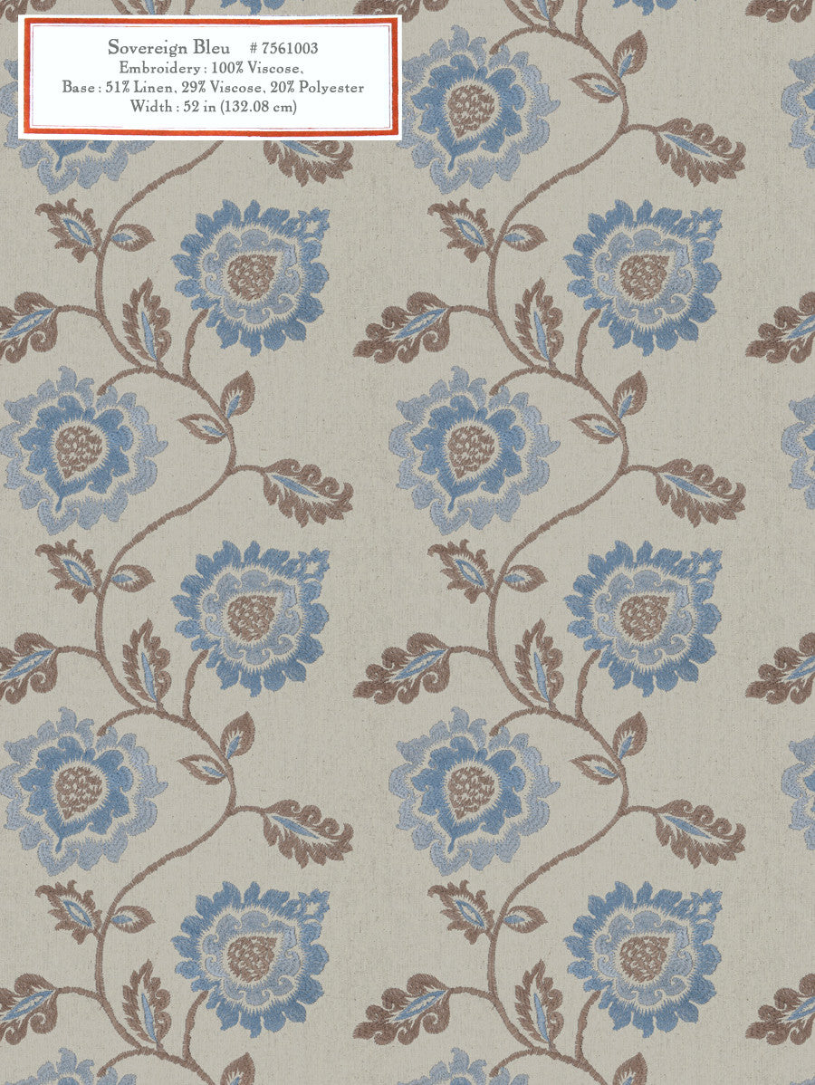 Home Decorative Fabric - Sovereign Bleu