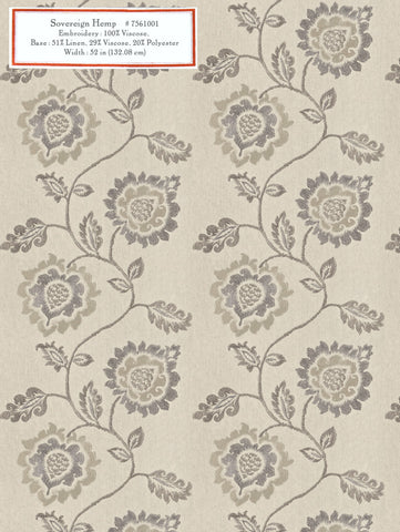 Home Decorative Fabric - Sovereign Hemp