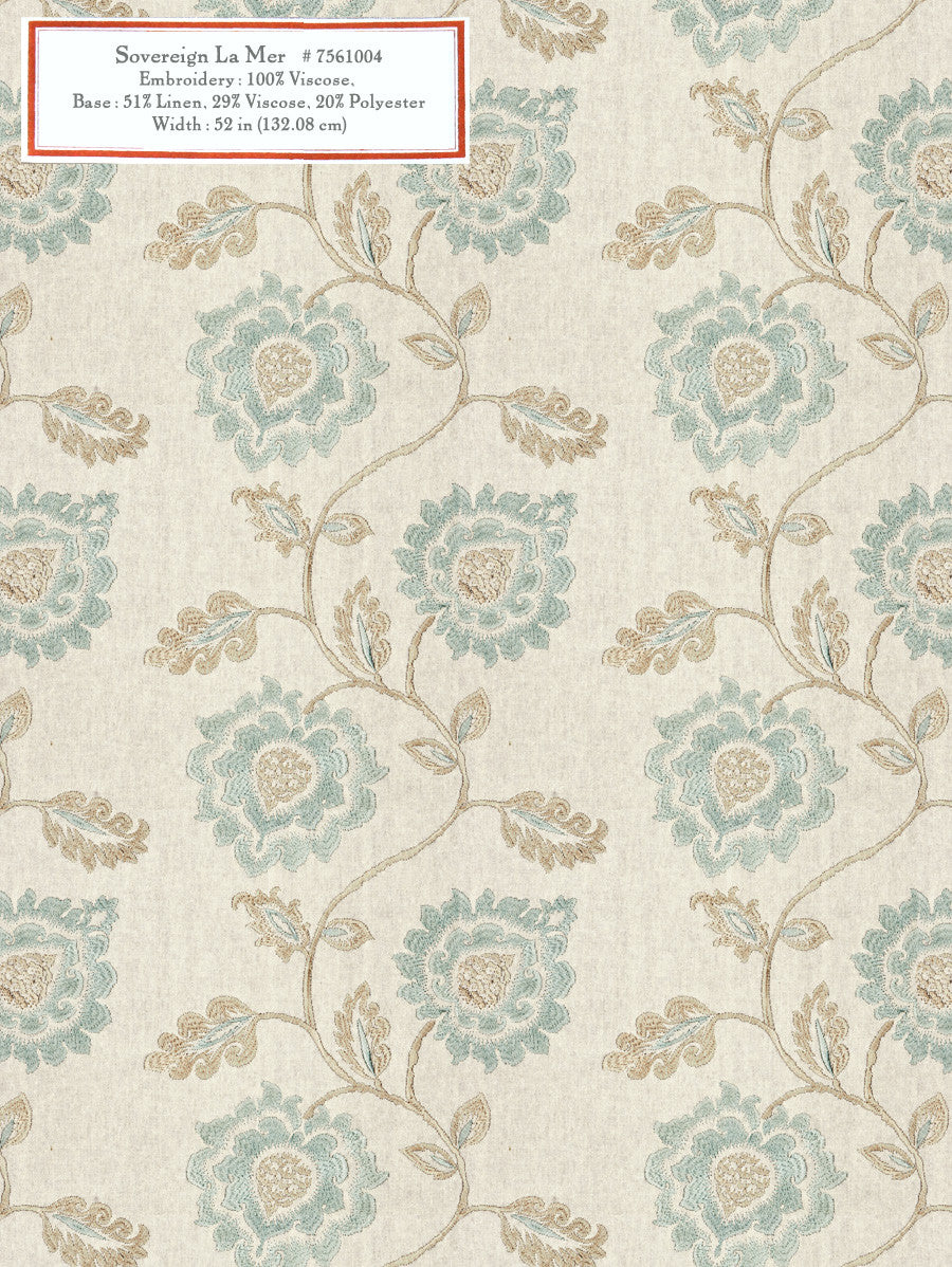 Home Decorative Fabric - Sovereign La Mer