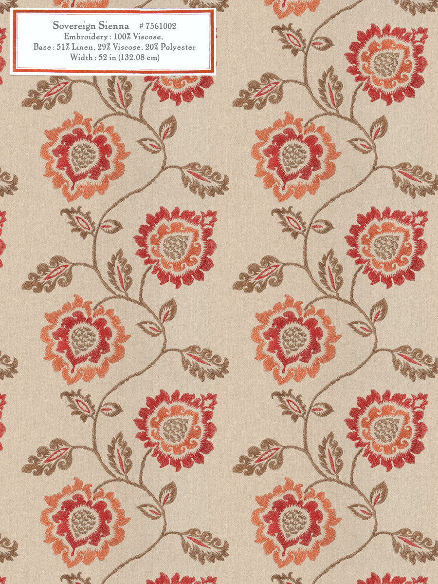 Home Decorative Fabric - Sovereign Sienna