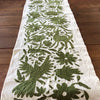 Green Otomi Embroidered Cloth
