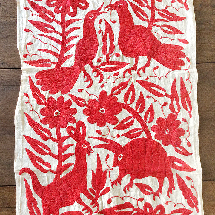 Red Otomi Embroidered Cloth