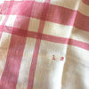 Linen Striped Tea Towel - Rose