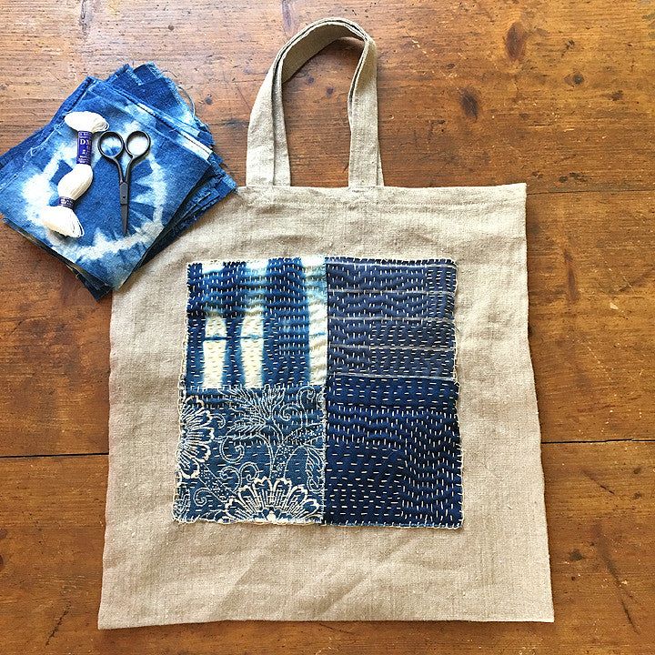 Indigo Boro Tote Kit French General