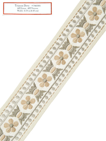 Home Decorative Trim - Trianon Dove