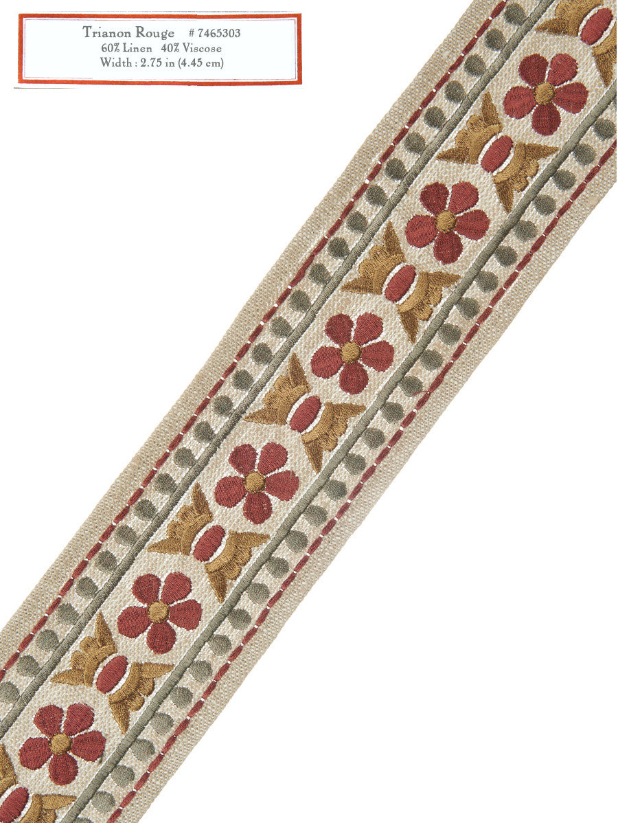 Home Decorative Trim - Trianon Rouge