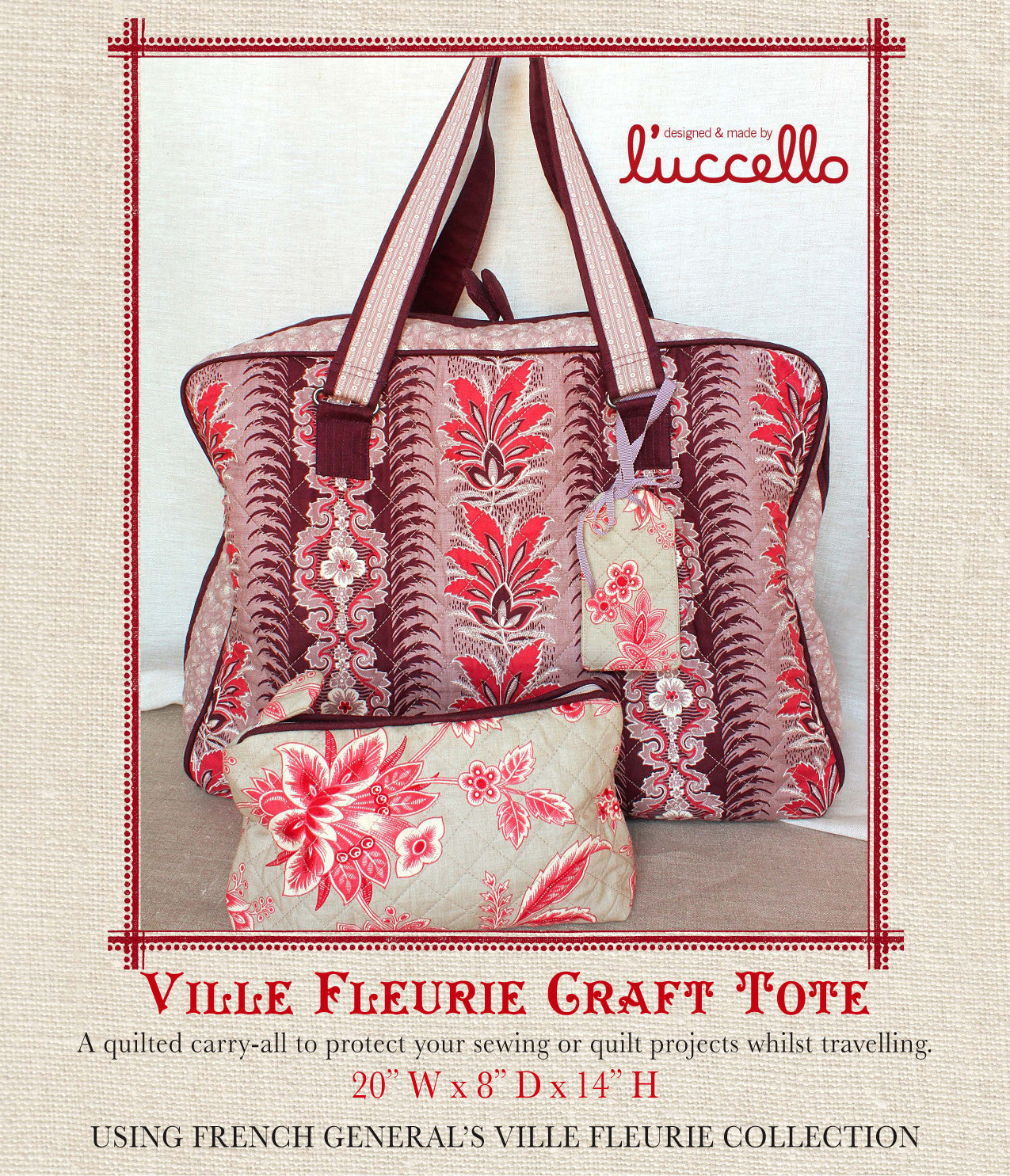 Ville Fleurie - Craft Tote