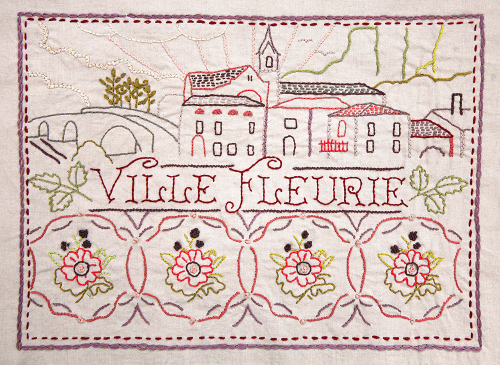 Ville Fleurie Embroidery Sampler French General
