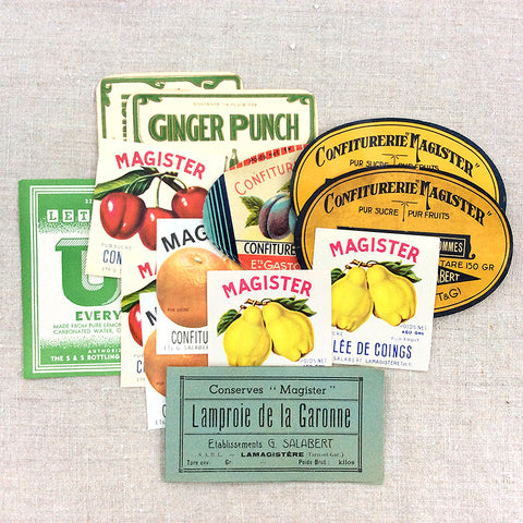Vintage Fruit Labels