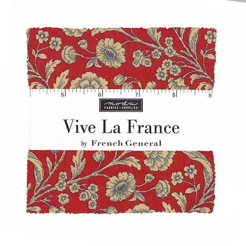 Moda French General Vive La France Charm Pack