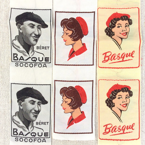 Antique Basque Beret Labels