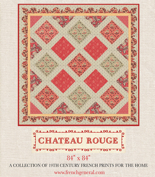 Chateau Rouge Quilt Pattern French General