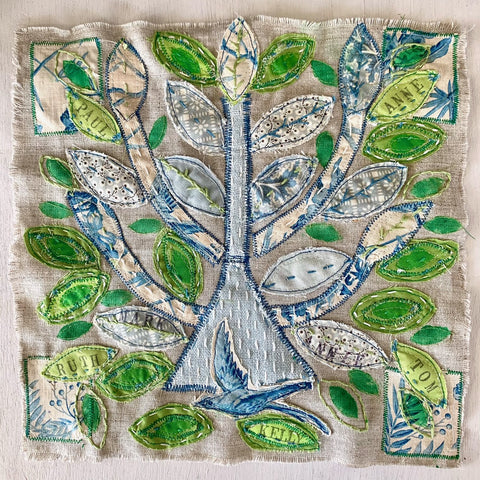 Live Zoom Workshop: The Stitched Tree of Life with Anne Kelly / Saturday, June 26th / 10-1pm PST