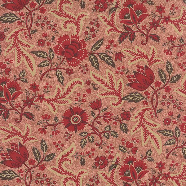 Ville Fleurie Rouge 13762 11 Moda Fabric French General