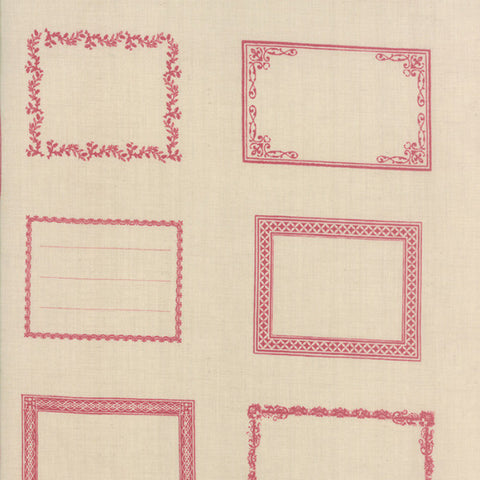 Souvenir Quilt Labels Rouge 13740 12 Moda Fabric