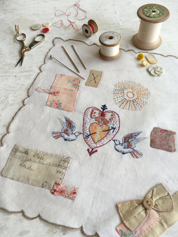 Stitched Souvenir Handkerchiefs with Jessie Chorley / Tuesday, November 10th / 3-6pm