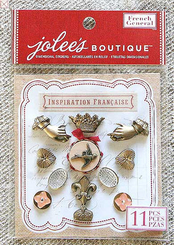 Jolees Boutique - Dimensional Stickers/Romance Francais