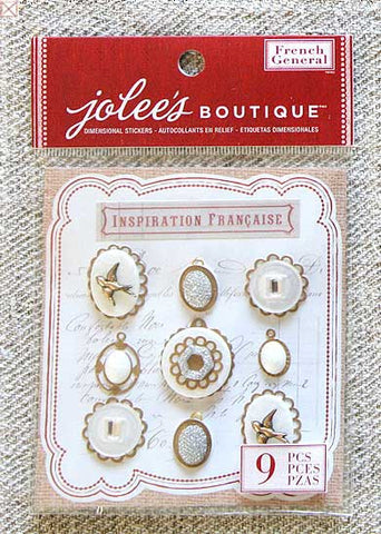 Jolees Boutique - Dimensional Stickers/Layered Mother Of Pearl Jewels