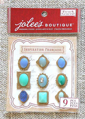 Jolees Boutique - Dimensional Stickers/Blue Jewels