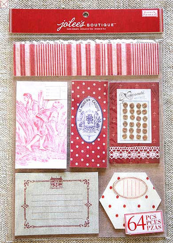 Jolees Boutique - Paper Swatch Remnants/Red