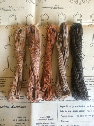 Persimmon Dyed Threads