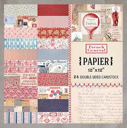 French General Paper Collection 12x12