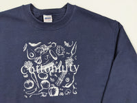 Cottonuity Navy Crewneck