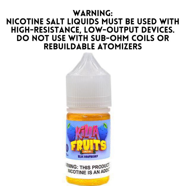 KILLA FRUITS SALT NIC – BLUE RASPBERRY (30ML)