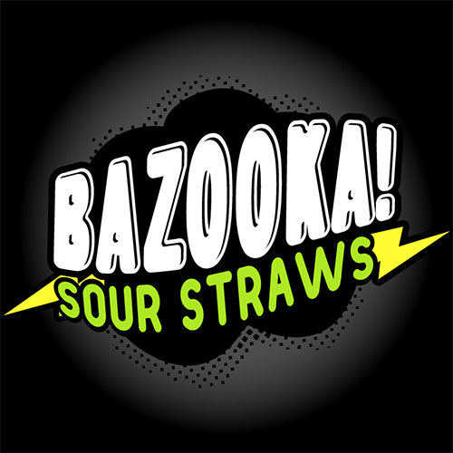 BAZOOKA ICE - BLUE RASPBERRY SOUR STRAWS (100ML)