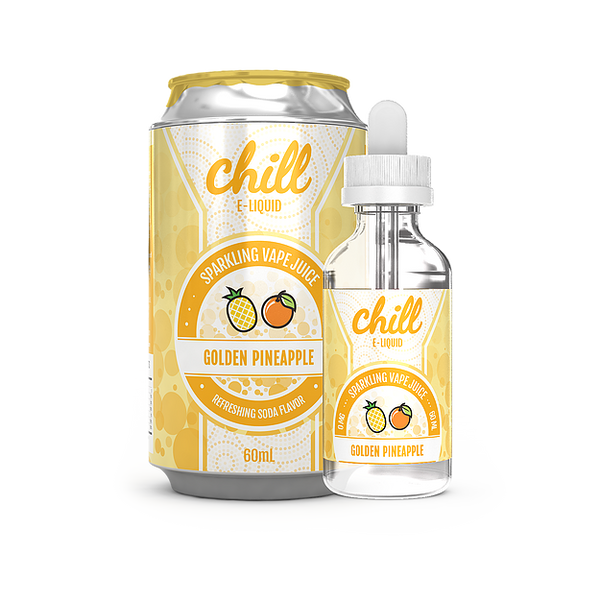 GOLDEN PINEAPPLE JUICE CHILL ELIQUID EJUICE VAPE