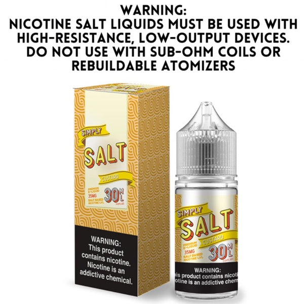 SIMPLY SALT - CUSTARD (30ML)