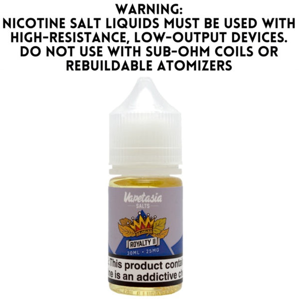 VAPETASIA SALTS – ROYALTY II (30ML)