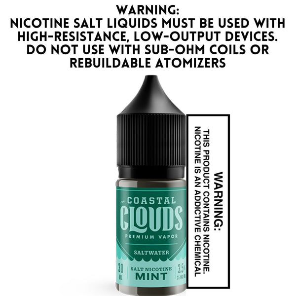 SALTWATER BY COASTAL CLOUDS - MINT (30ML)