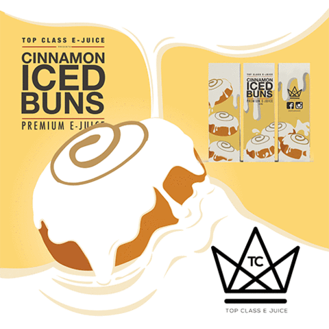 TOP CLASS EJUICE - CINNAMON ICED BUNS eJUICE