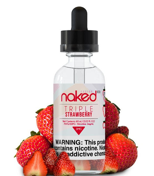 NAKED100 FUSION - TRIPLE STRAWBERRY (60ML)